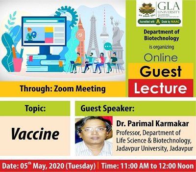Online Guest Lecture (Title - Vaccine)