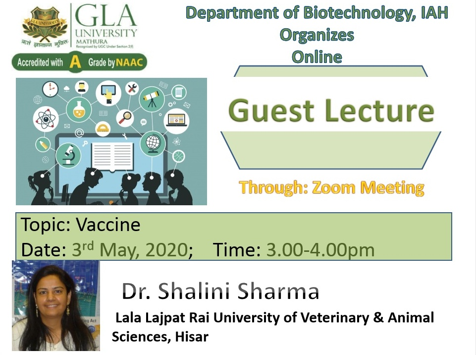 Online Guest Lecture BY Dr. Shalini Sharma