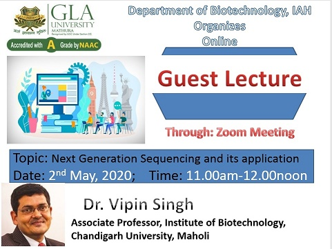 Online Guest Lecture BY Dr. Vipin Singh
