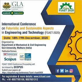 International Conference on Futuristic and Sustainable Aspects in Engineering & Technology