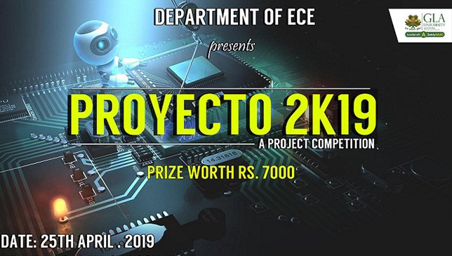 "Mini project exhibition cum competition ""PROYECTO 2k19"""