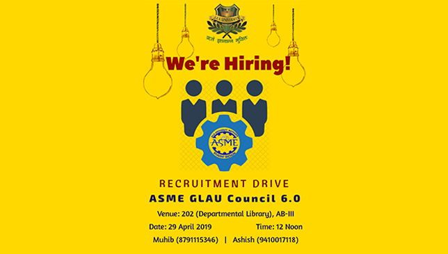 ASME GLAU Council 6.0 | Recruitment Drive