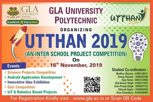 Utthan 2019 (An Inter School Project Competition)